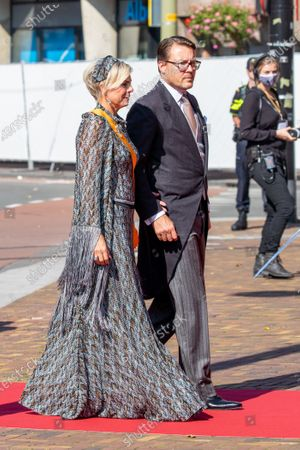 Stock Picture of Prince Constantijn and Princess Laurentien of the Netherlands