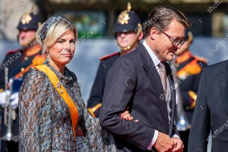 Stock Photo of Prince Constantijn and Princess Laurentien of the Netherlands