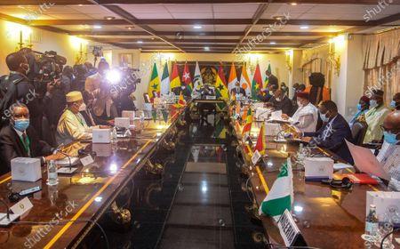 Editorial image of ECOWAS summit with Mali junta, Accra, Ghana - 15 Sep 2020