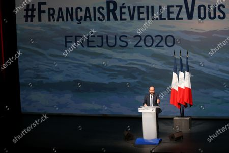 Editorial picture of David Rachline at the first public meeting following the summer break, Frejus, France - 06 Sep 2020