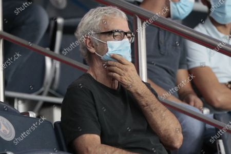 Stock Image of Raymond Domenech with protection's mask in presidential stand