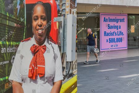 Editorial picture of Everyday Heroes exhibition around the Southbank Centre, Southbank Centre, London, UK - 15 Sep 2020