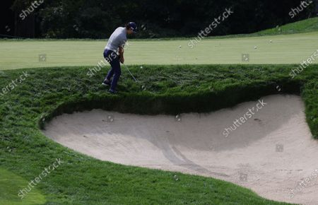 Ryo Ishikawa of Japan chips on the tenth hole during a practice round for the 2020 US Open at Winged Foot Golf Club in Mamaroneck, New York, USA, 15 September 2020. The 2020 US Open will be played from 17 September through 20 September in front of no fans due to the ongoing coronovirus pandemic.