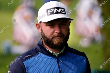 Andy Sullivan, of England, before the U.S. Open Championship golf tournament, at the Winged Foot Golf Club in Mamaroneck, N.Y