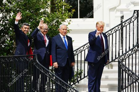 Editorial image of President Trump hosts Abraham Accords signing ceremony at White House, Washington, USA - 15 Sep 2020
