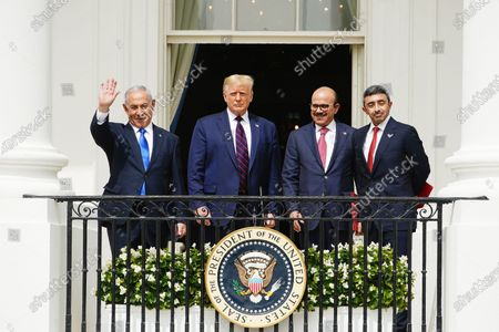Editorial picture of President Trump hosts Abraham Accords signing ceremony at White House, Washington, USA - 15 Sep 2020