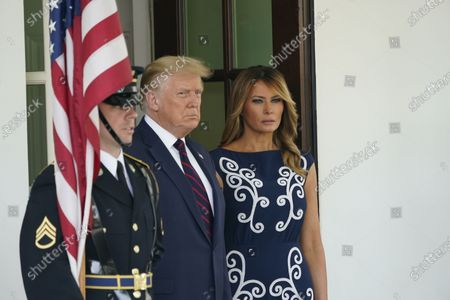 United States President Donald J. Trump and first lady Melania Trump welcomes Prime Minister Benjamin Netanyahu of Israel, and his wife Sara, to the White House in Washington, DC on Tuesday, September 15, 2020. Netanyahu is in Washington to sign the Abraham Accords, a peace treaty with the State of Israel.