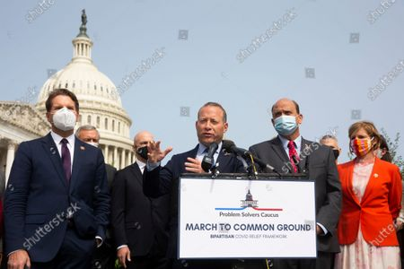 Editorial picture of Bipartisan caucus of lawmakers introduce a framework for COVID-19 economic stimulus, Washington, USA - 15 Sep 2020