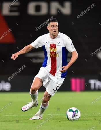 Martin Kelly (34) of Crystal Palace on the attack during the EFL Cup match between Bournemouth and Crystal Palace at the Vitality Stadium, Bournemouth