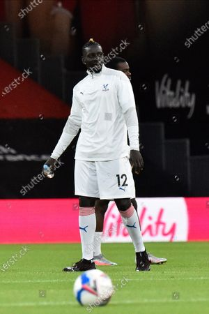Stock Photo of Mamadou Sakho (12) of Crystal Palace warming up ahead of the EFL Cup match between Bournemouth and Crystal Palace at the Vitality Stadium, Bournemouth