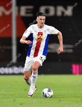 Martin Kelly (34) of Crystal Palace during the EFL Cup match between Bournemouth and Crystal Palace at the Vitality Stadium, Bournemouth