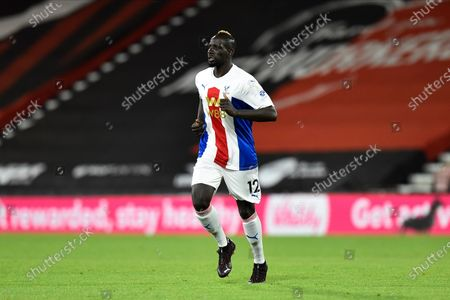 Stock Image of Mamadou Sakho (12) of Crystal Palace during the EFL Cup match between Bournemouth and Crystal Palace at the Vitality Stadium, Bournemouth