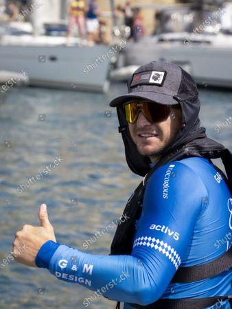 Stock Photo of Gareth Wittstock at the departure of 'The Crossing Calvi Monaco Water Bike Challenge'