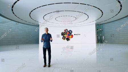 Handout video still image released by Apple showing Apple Chief Operating Officer Jeff Williams unveiling Apple Watch SE during an Apple Event at Apple Park. Apple is expected to introduce several new products.