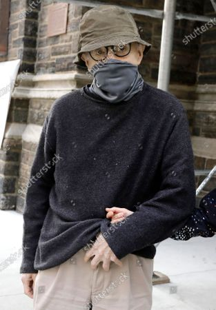 Wearing a face mask US filmmaker Woody Allen walks up Park Avenue in New York, New York, USA, 15 September 2020.