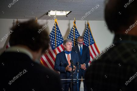 United States Senator Roy Blunt (Republican of Missouri), offers remarks following the GOP luncheon in the Hart Senate Office Building on Capitol Hill in Washington, DC., Tuesday, September 15, 2020. Credit: Rod Lamkey / CNP