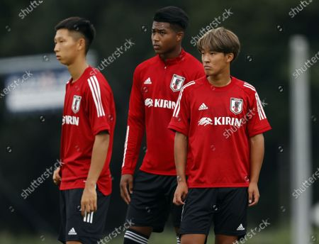 (R-L)Hidetoshi Takeda, Soromon Sakuragawa (JPN) - Football / Soccer : U19 Japan National team training camp at JFA YUME Field in Chiba, Japan.