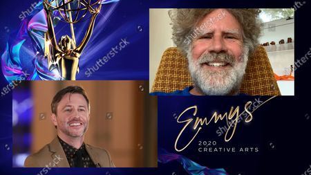 "Chris Hardwick presents the Emmy for Outstanding Variety Special (Live) to Will Ferrell for ""Live In Front Of A Studio Audience: ""All In The Family"" And ""Good Times"""" during the second night of the 2020 Creative Arts Emmy Awards, streamed live on Emmys.com on"