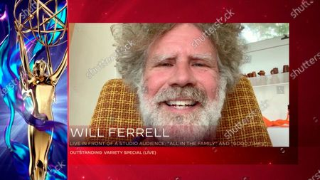"Executive producer Will Ferrell provides a unique acceptance speech for Outstanding Variety Special (Live) for ""Live In Front Of A Studio Audience: ""All In The Family"" And ""Good Times"" during the second night of the 2020 Creative Arts Emmy Awards, streamed live on Emmys.com on"