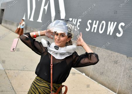 Editorial image of Street Style, Spring Summer 2021, New York Fashion Week, USA - 15 Sep 2020