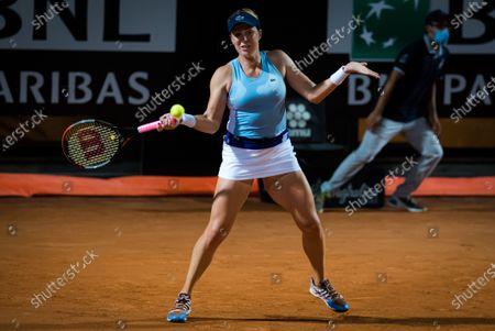 Anastasia Pavlyuchenkova of Russia in action during her second-round match at the 2020 Internazionali BNL d'Italia WTA Premier 5 tennis tournament