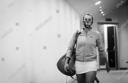 Anastasia Pavlyuchenkova of Russia before her second-round match at the 2020 Internazionali BNL d'Italia WTA Premier 5 tennis tournament