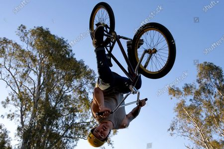 A BMX rider shows off his skills at the skate park in Shepparton during COVID-19 in Melbourne, Australia.  Premier Daniel Andrews announced yesterday that regional Victoria will move to Step 3 of the Road Map. For Shepparton, in central Victoria, this looks to be too little, too late.