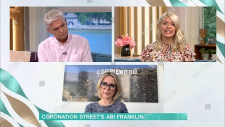 Phillip Schofield, Holly Willoughby and Sally Carman