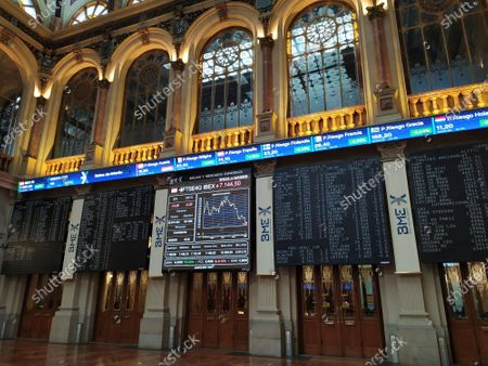 A general view of the Stock Exchange in Madrid, Spain, 16 September 2020. The Spanish main index IBEX 35, have risen a 0,27 percent in its opening.