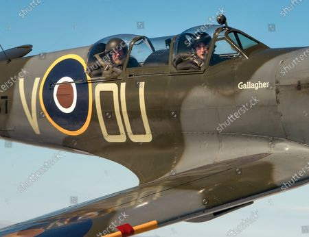 Richard Grace of Ultimate Warbird Flights takes the Telegraph's Defence and Security Correspondent, Dominic Nicholls, for a flight in a duel control Spitfire, ahead of the 80th anniversary of the Battle of Britain.
