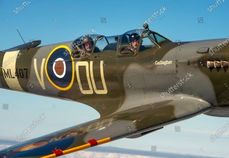 Editorial image of Spitfire flight ahead of the 80th anniversary of the Battle of Britain, UK - 08 Sep 2020