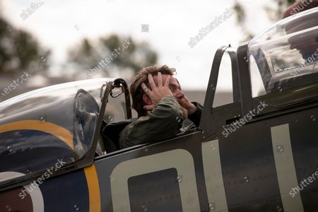 Stock Image of Richard Grace of Ultimate Warbird Flights takes the Telegraph's Defence and Security Correspondent, Dominic Nicholls, for a flight in a duel control Spitfire, ahead of the 80th anniversary of the Battle of Britain.