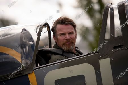 Stock Photo of Richard Grace of Ultimate Warbird Flights takes the Telegraph's Defence and Security Correspondent, Dominic Nicholls, for a flight in a duel control Spitfire, ahead of the 80th anniversary of the Battle of Britain.