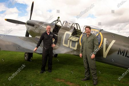 Stock Picture of Richard Grace of Ultimate Warbird Flights takes the Telegraph's Defence and Security Correspondent, Dominic Nicholls, for a flight in a duel control Spitfire, ahead of the 80th anniversary of the Battle of Britain.