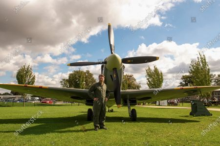Editorial picture of Spitfire flight ahead of the 80th anniversary of the Battle of Britain, UK - 08 Sep 2020