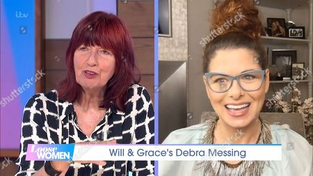 Janet Street-Porter and Debra Messing
