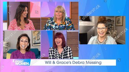 Andrea McLean, Linda Robson, Saira Khan, Janet Street-Porter and Debra Messing