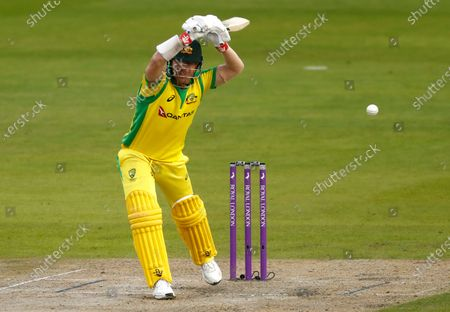 Australia's David Warner bats during the third ODI cricket match between England and Australia, at Old Trafford in Manchester, England