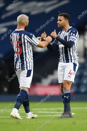 Hal Robson-Kanu of West Bromwich Albion and Charlie Austin of West Bromwich Albion.