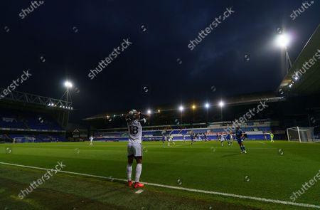 Mario Lemina of Fulham prepares to take a throw-in