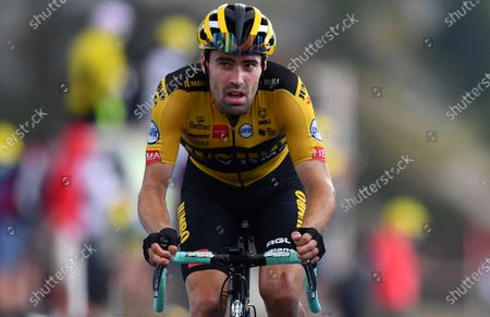 Dutch cyclist Tom Dumoulin of Jumbo-Visma team crosses the finish line during the 17th stage of the Tour de France over 170km from Grenoble to Meribel Col de la Loze, France, 16 September 2020.
