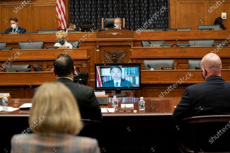 Representative Ted Lieu, a Democrat from California, speaks virtually during a House Foreign Affairs Committee hearing investigating the firing of State Department Inspector General Steve Linick, on Capitol Hill in Washington, DC, USA, on 16 September 2020. The foreign affairs committee issued the subpoenas as part of the panel's probe into accusations that Linick was fired while investigating Secretary of State Mike Pompeo's role in a controversial eight billion US dollars weapons sale to Saudi Arabia.