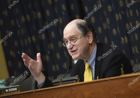 Stock Photo of Rep. Brad Sherman, D-Calif., questions witnesses before a House Committee on Foreign Affairs hearing looking into the firing of State Department Inspector General Steven Linick, on Capitol Hill in Washington