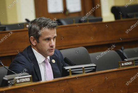 Rep. Adam Kinzinger, R-Ill., questions witnesses before a House Committee on Foreign Affairs hearing looking into the firing of State Department Inspector General Steven Linick, on Capitol Hill in Washington