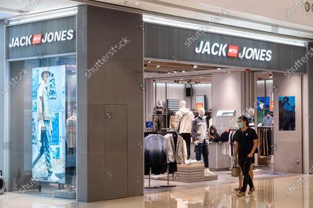 Danish fashion clothing brand Jack Jones store in Hong Kong shopping mall.