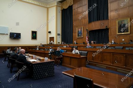 """Editorial picture of US House Committee on Foreign Affairs hearing titled """"Why did the Trump Administration Fire the State Department Inspector General?"""", Washington, District of Columbia, USA - 16 Sep 2020"""