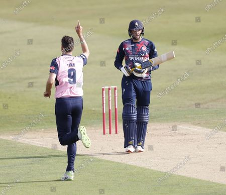 Editorial photo of Kent Spitfires vs Middlesex, Vitality Blast T20, Cricket, The Spitfire Ground, Canterbury, Kent, United Kingdom - 16 Sep 2020