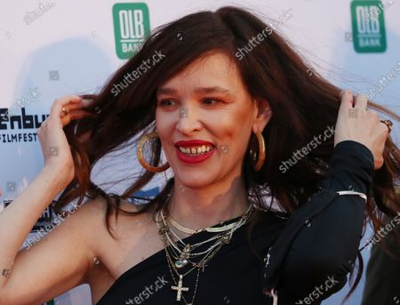 Paz de la Huerta on the red carpet of the opening of the 27th Oldenburg International Film Festival (Filmfest Oldenburg) in Oldenburg, northern Germany, 16 September 2020. The festival opens with the movie Puppy Love' by director Michael Maxxis.