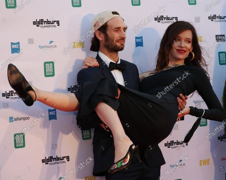 Hopper Penn and US actress Paz de la Huerta on the red carpet of the opening of the 27th Oldenburg International Film Festival (Filmfest Oldenburg) in Oldenburg, northern Germany, 16 September 2020. The festival opens with the movie Puppy Love' by director Michael Maxxis.