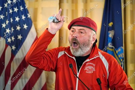 New York City 2021 mayoral candidate, Guardian Angels founder, anti-crime activist, and talk radio show host Curtis Sliwa speaks at a press conference at the Women's Republican Club, in New York. Former New York Mayor Rudy Giuliani also spoke at the event, which was billed as an opportunity to announce a plan to bring New York City back from recent spate of problems in the wake of the coronavirus pandemic